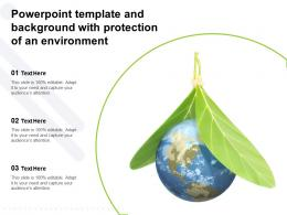 Powerpoint Template And Background With Protection Of An Environment