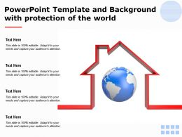 Powerpoint Template And Background With Protection Of The World