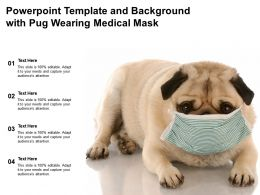 Powerpoint Template And Background With Pug Wearing Medical Mask