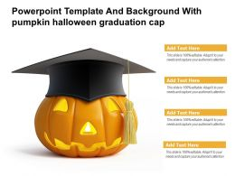 Powerpoint Template And Background With Pumpkin Halloween Graduation Cap