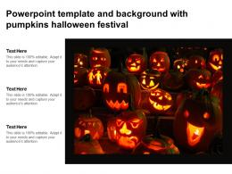 Powerpoint Template And Background With Pumpkins Halloween Festival