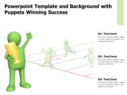 Powerpoint Template And Background With Puppets Winning Success