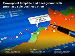 Powerpoint Template And Background With Purchase Sale Business Chart