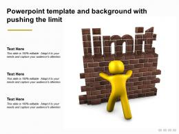 Powerpoint Template And Background With Pushing The Limit