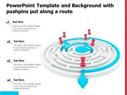 Powerpoint Template And Background With Pushpins Put Along A Route