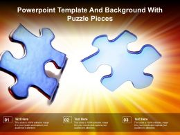 Powerpoint Template And Background With Puzzle Pieces