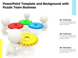 Powerpoint Template And Background With Puzzle Team Business