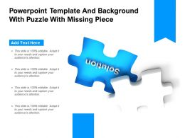 Powerpoint Template And Background With Puzzle With Missing Piece