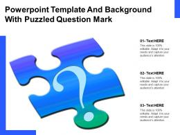 Powerpoint Template And Background With Puzzled Question Mark