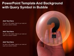 Powerpoint Template And Background With Query Symbol In Bubble