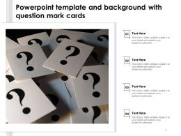 Powerpoint Template And Background With Question Mark Cards