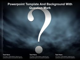 Powerpoint Template And Background With Question Mark