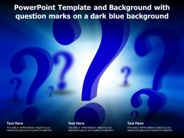 Powerpoint Template And Background With Question Marks On A Dark Blue Background