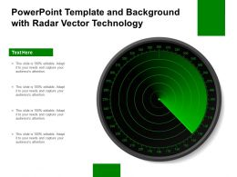 Powerpoint Template And Background With Radar Vector Technology