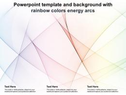 Powerpoint Template And Background With Rainbow Colors Energy Arcs