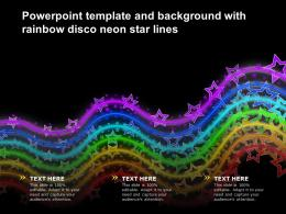 Powerpoint Template And Background With Rainbow Disco Neon Star Lines