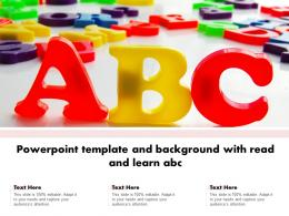 Powerpoint Template And Background With Read And Learn Abc