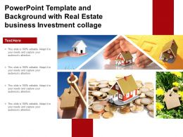 Powerpoint Template And Background With Real Estate Business Investment Collage