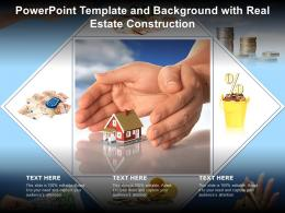 Powerpoint Template And Background With Real Estate Construction