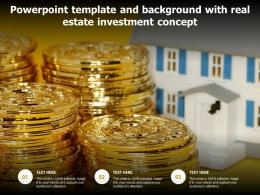 Powerpoint Template And Background With Real Estate Investment Concept