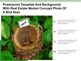 Powerpoint Template And Background With Real Estate Market Concept Photo Of A Bird Nest