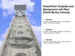 Powerpoint Template And Background With Real Estate Money Concept