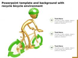 Powerpoint Template And Background With Recycle Bicycle Environment
