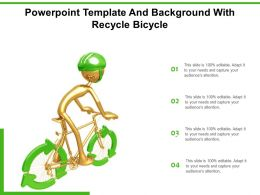Powerpoint Template And Background With Recycle Bicycle