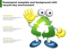 Powerpoint Template And Background With Recycle Boy Environment