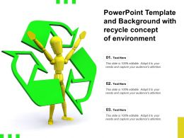 Powerpoint Template And Background With Recycle Concept Of Environment