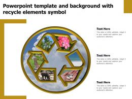 Powerpoint Template And Background With Recycle Elements Symbol