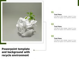 Powerpoint Template And Background With Recycle Environment
