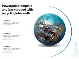 Powerpoint Template And Background With Recycle Globe Earth