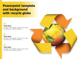 Powerpoint Template And Background With Recycle Globe