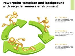Powerpoint Template And Background With Recycle Runners Environment