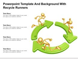 Powerpoint Template And Background With Recycle Runners