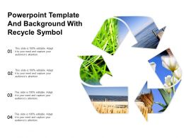 Powerpoint Template And Background With Recycle Symbol