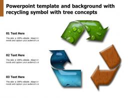 Powerpoint Template And Background With Recycling Symbol With Tree Concepts