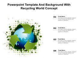Powerpoint Template And Background With Recycling World Concept