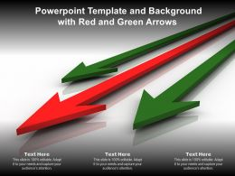 Powerpoint Template And Background With Red And Green Arrows