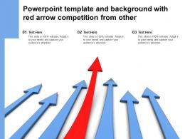 Powerpoint Template And Background With Red Arrow Competition From Other