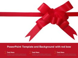Powerpoint Template And Background With Red Bow