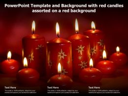 Powerpoint Template And Background With Red Candles Assorted On A Red Background