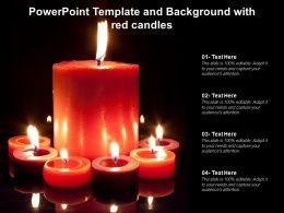 Powerpoint Template And Background With Red Candles