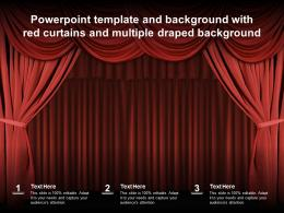 Powerpoint Template And Background With Red Curtains And Multiple Draped Background