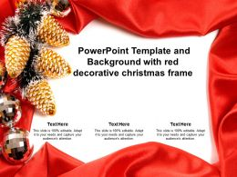 Powerpoint Template And Background With Red Decorative Christmas Frame