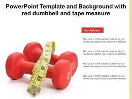 Powerpoint Template And Background With Red Dumbbell And Tape Measure