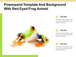 Powerpoint Template And Background With Red Eyed Frog Animal