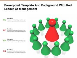 Powerpoint Template And Background With Red Leader Of Management