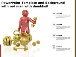 Powerpoint Template And Background With Red Man With Dumbbell